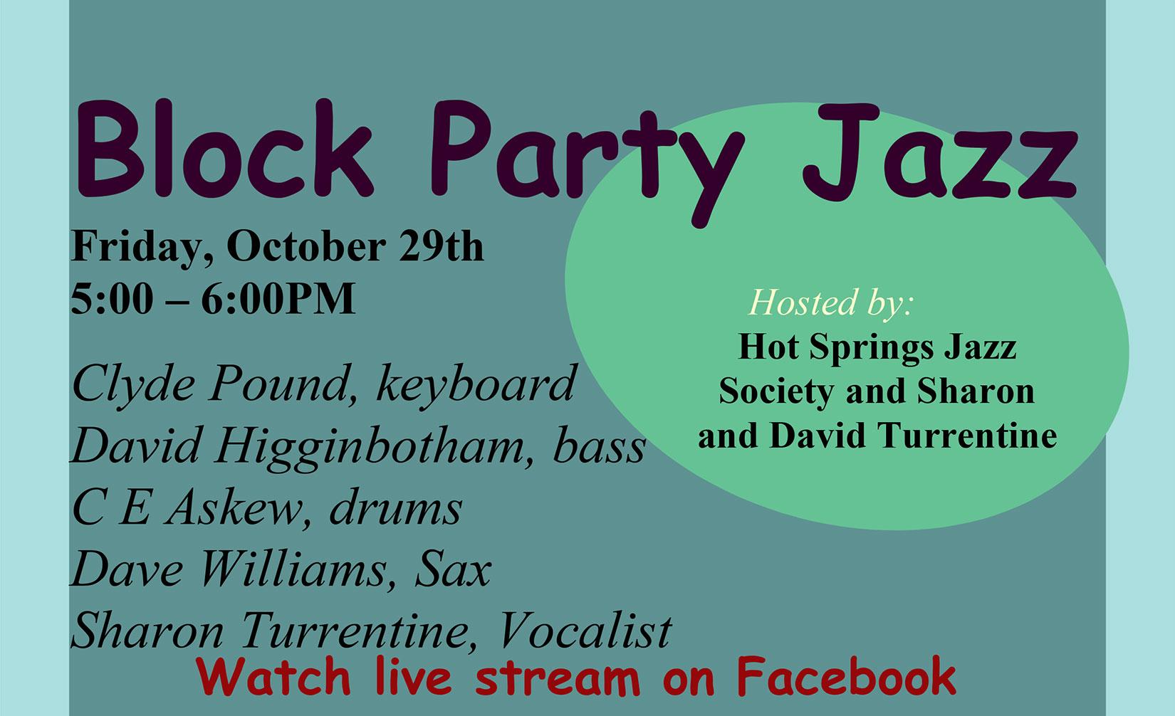 Block Party Jazz – October 29th